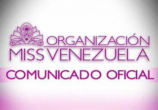 Miss Venezuela Comunicado Oficial